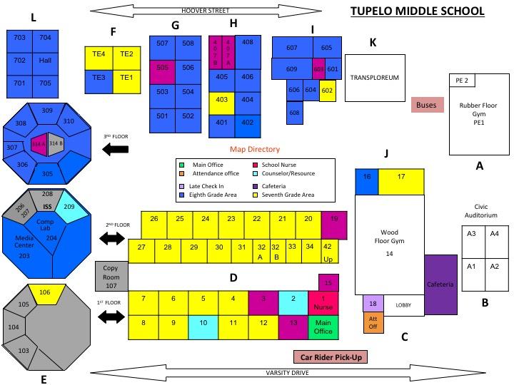 School Map Tupelo Public School District